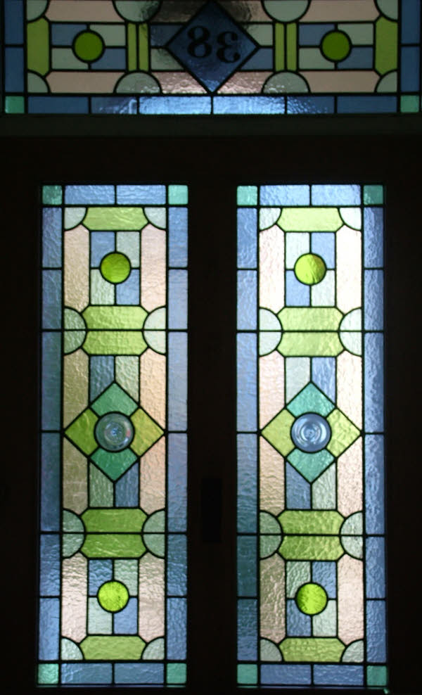 Geometric Victorian Abinger Stained Glass
