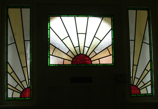 1930 39 s sunburst window abinger stained glass