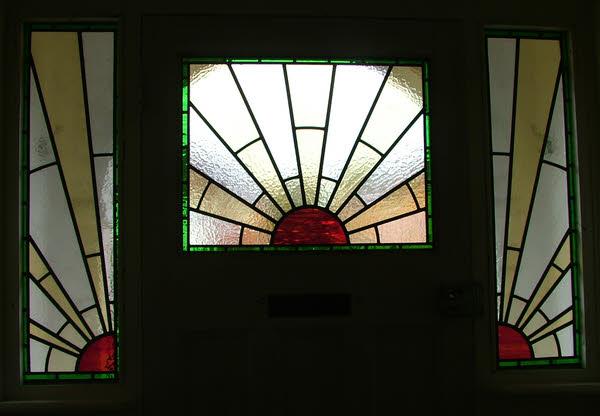 1930 39 s sunburst window abinger stained glass