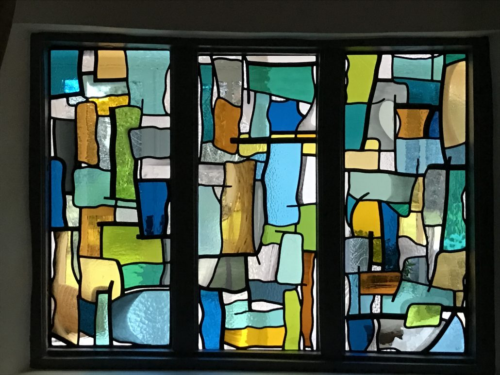 1950 S Inspired Abstract Abinger Stained Glass