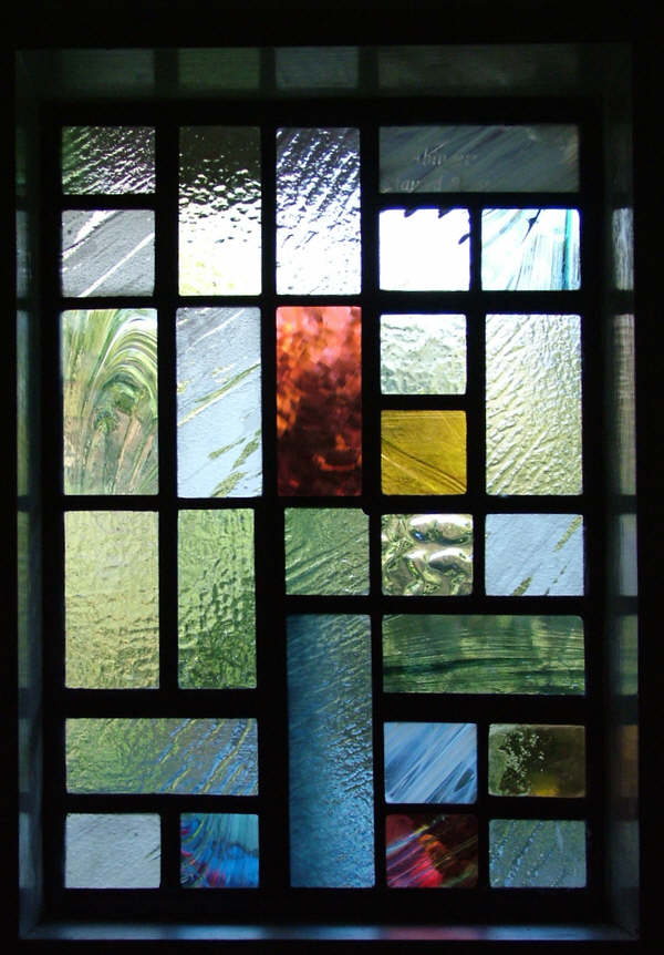 Contemporary Front Door Abinger Stained Glass